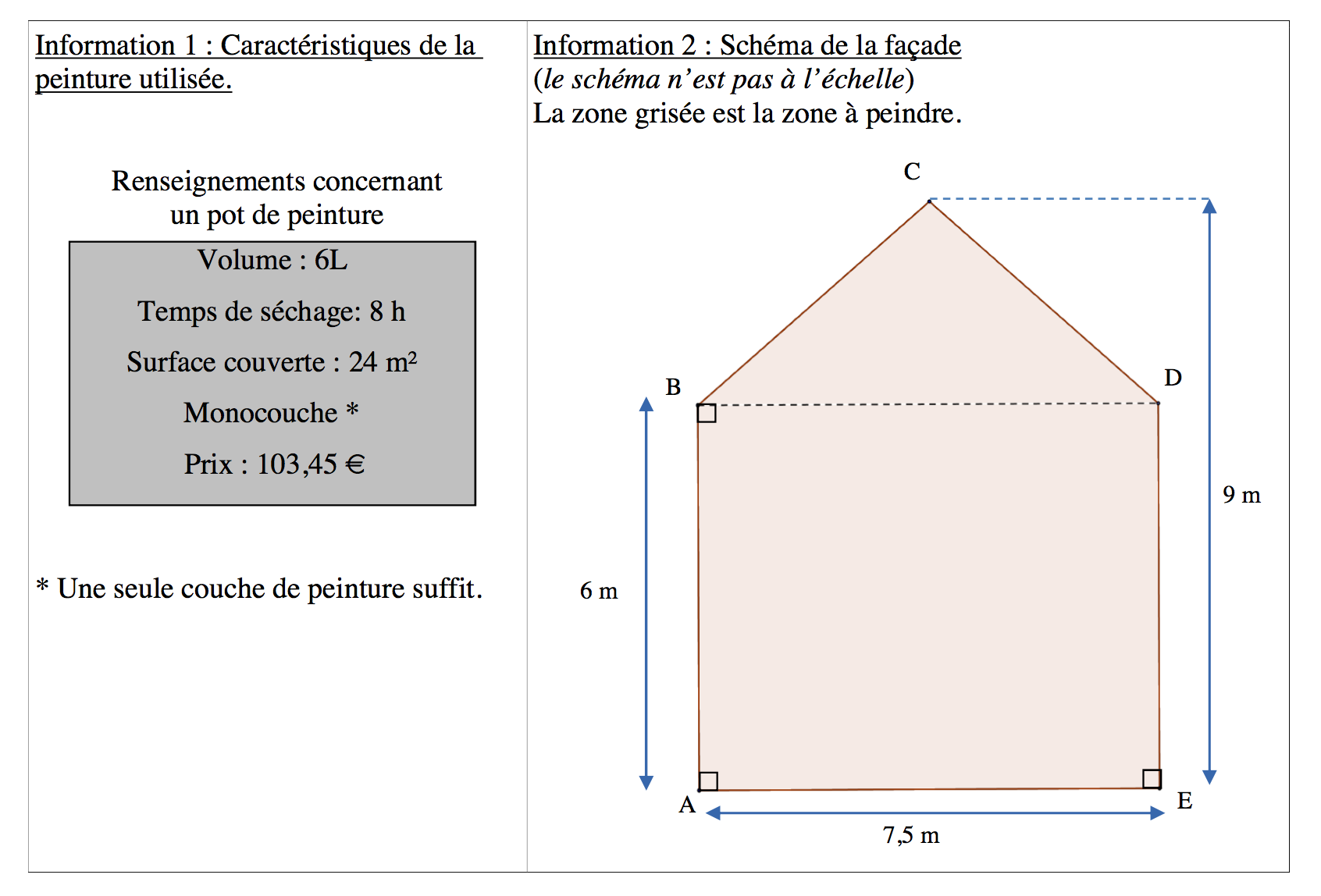 exercice 5 brevet maths 2015