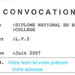 convocation au brevet