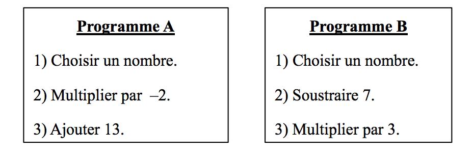 exercice 2 programme