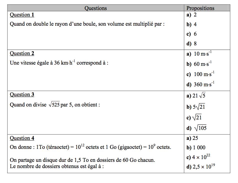 QCM-brevet-maths-2014-exercice-5